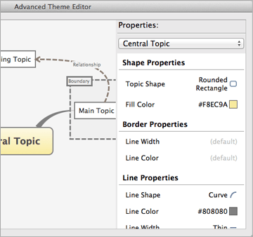 Screenshot of Theme Editor